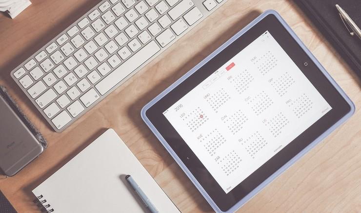 Kalender på iPad