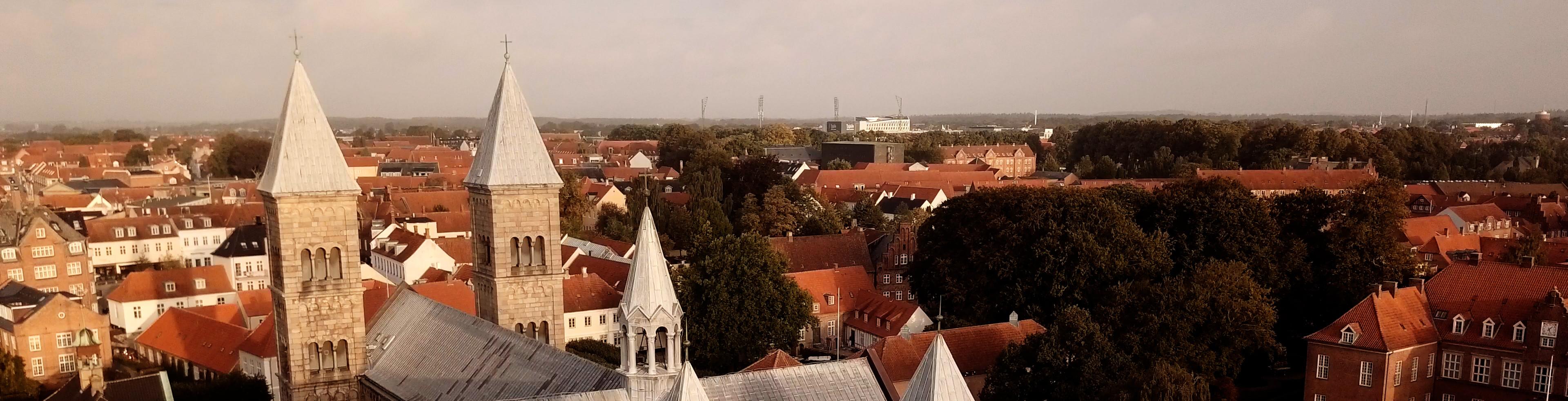 Luftbillede af Viborg Domkirke