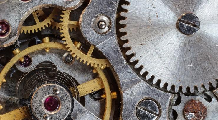 Illustraton på en tidsmaskine
