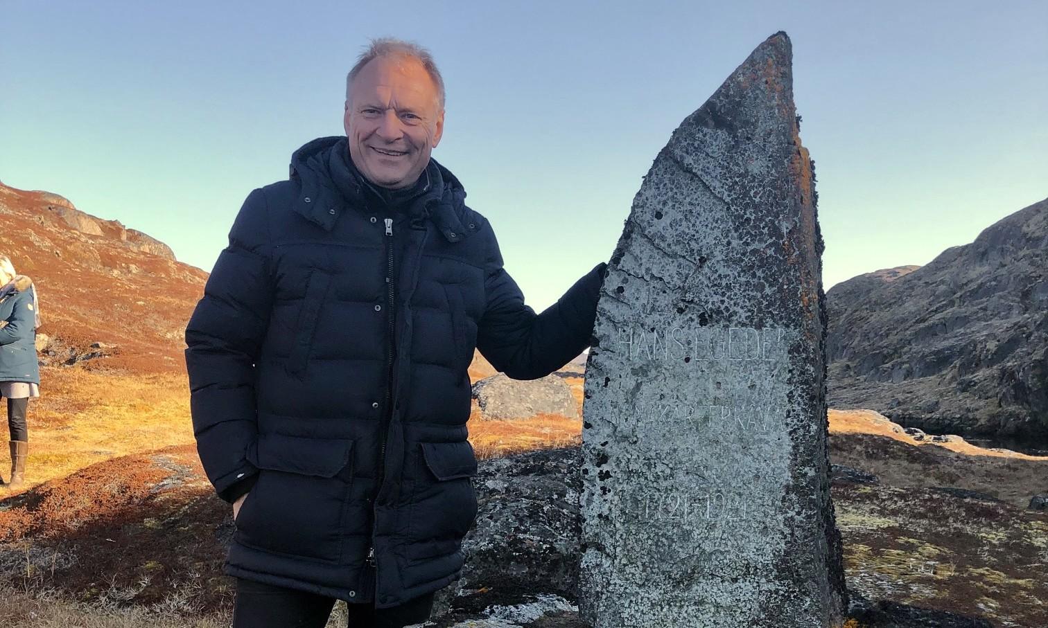 Henrik Stubkjær på besøg på Håbets ø