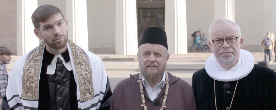 Forskellige repræsentanter for trossamfund