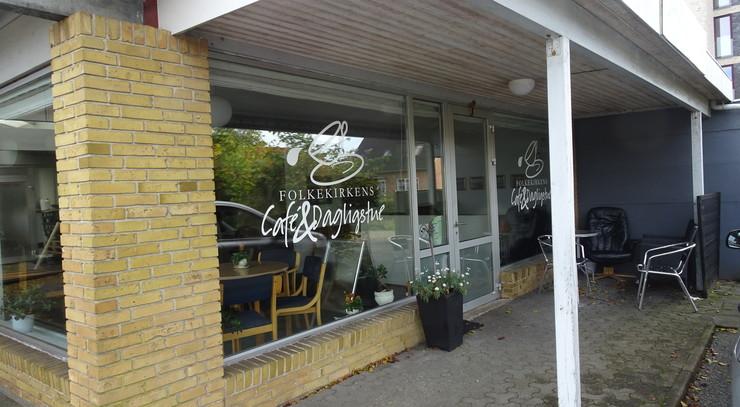 Exteriør af Folkekirkens cafe
