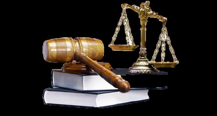 Lovbøger, dommerhammer og vægt